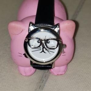 Charming Charlie's nerdy kitten watch